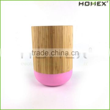 Colorful bamboo utensil holder for kitchen Homex-BSCI