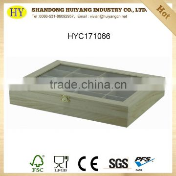 cheap natural unfinished wooden tea box wholesale