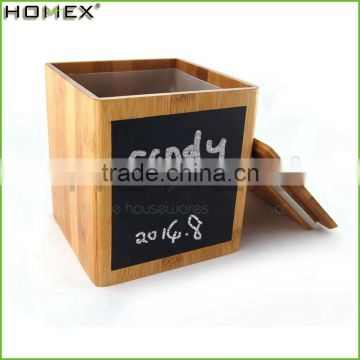 Hotsale Safe Cooking Tools Bamboo Tea Candy Canister Unique Kitchen Canisters Set/Homex_Factory