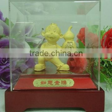 Retail Gold Plated Chinese Zodiac Monkey for business gift