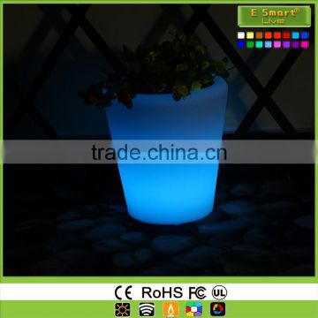 plastic led lighted flower pots for party