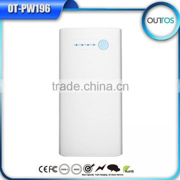 Promotional dual usb portable power pack 10000mah with ce