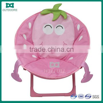 China supplier moon pink relax folding beach chair