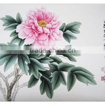 Chinese high quality wholesale handmade Peony Flower DIY painting manufacture of Cui E Jiao