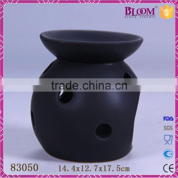 Factory direct sale matt black ceramic oil burner