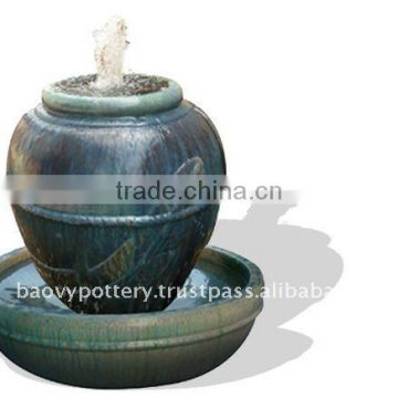 Ceramic fountain, ceramic water feature QT