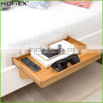 Bamboo bedside shelf for bunk bed in black Homex_BSCI Factory