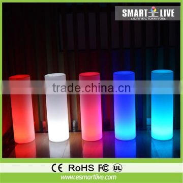 LED cylinder shaped color changing decoration chair lamp