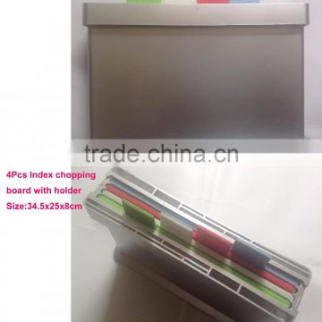 plastic chopping board set with holder,cutting board