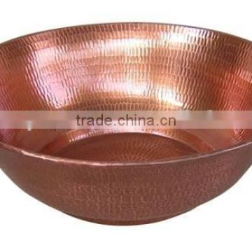 large centerpiece shiny metal bowl