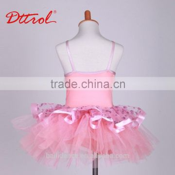 Summer kids fashion dresses pictures pink modern dancing costumes ballet tutu dress D032002