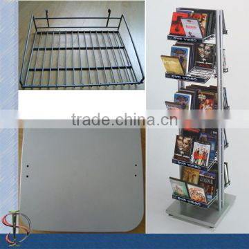 2 sides Floor DVD Stand with metal shelves