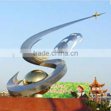 Abstract Style Stainless Steel Sculpture for Garden Outside Plaza use
