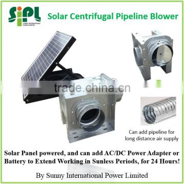 SUNNY Ventilation New Type Centrifugal Blades DC Ceiling Air Exhaust Fan Double Inlet Solar Air Blower Fan