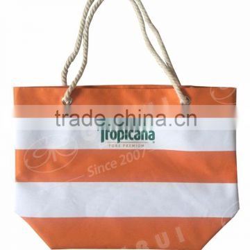 2016 wholesale promotion 300D polyester beach bag with cotton rope handle                                                                         Quality Choice                                                                     Supplier's Choice