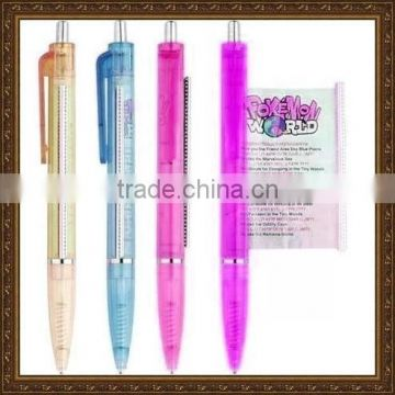 banner pen personalized ,pull out banner pen , advertisement pen