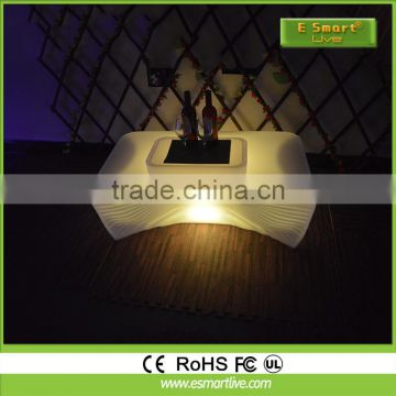 Coffee furniture 16 colors changing LED light bar table wholesale