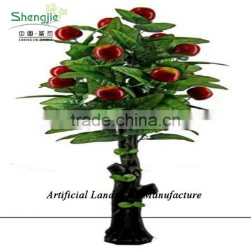 SJZJN 927 Fake Red Real look Apple Tree/ High Quality Apple Tree for Home Or Outdoor Decoration