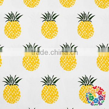Wholesale OEM Service Print Stretchy Brushed Polyester Fabric