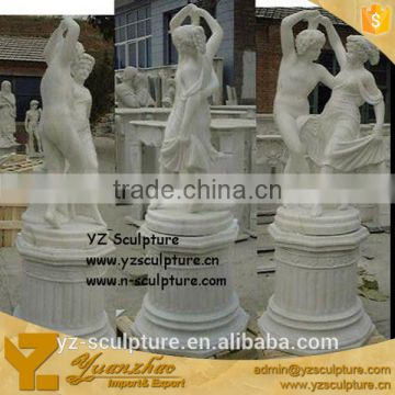 outdoor large size standing nude woman and man sculpture for sale (STU-A1195)