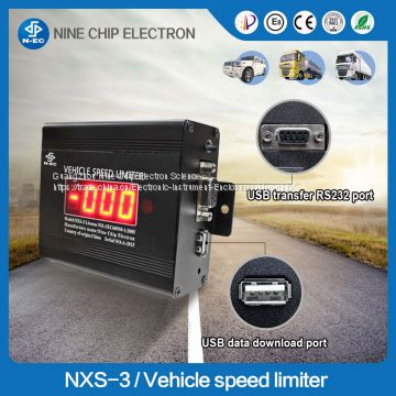 Usb data recording heavy truck/bus speed control device