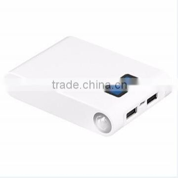 Promotional Square Powerbank With Display Power Bank 2 Output 5V 2.1A