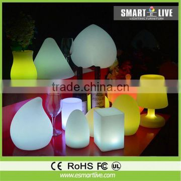 Rotomolding led outdoor chair, bar chair, LED furniture made