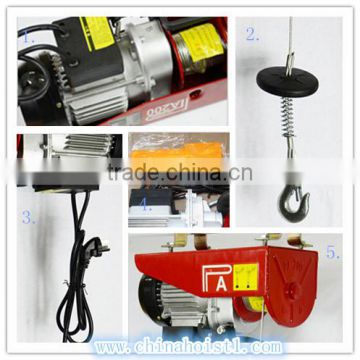 PA mini electric lifting wire rope hoist winch