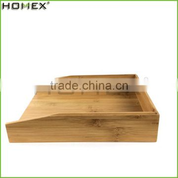 Bamboo wooden letter printing paper storage tray Homex-BSCI