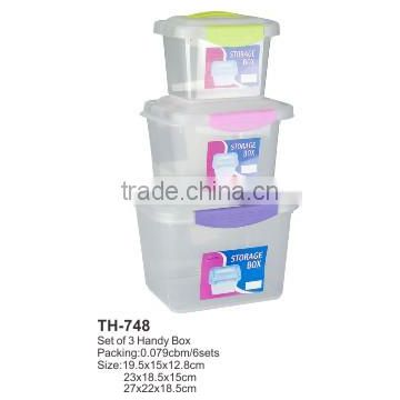 High Quality Set of 3 Handy container handy Box TH-748
