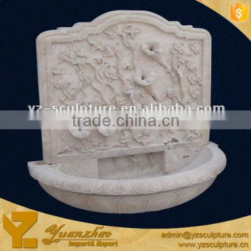 White Marble antique Beautiful Flower Indoor wall Fountain