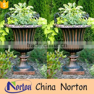 Traditional garden urns polished bronze flowerpot for sale NTBF-FL013L