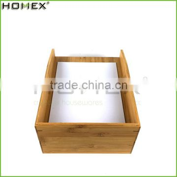 Office desk accessories--bamboo letter tray Homex-BSCI