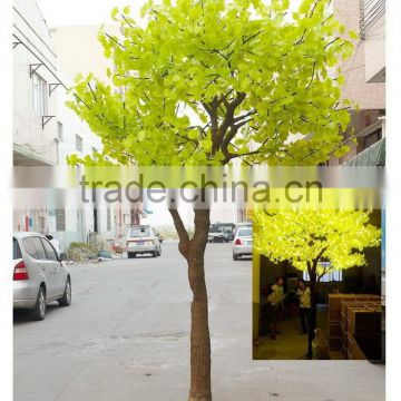 gingko tree with yellow light/led gingko tree for outdoor decor
