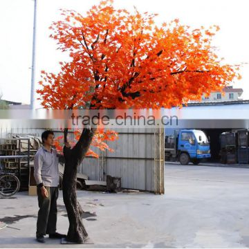 red artificial maple tree plastic maple tree/ fake maple tree decoration