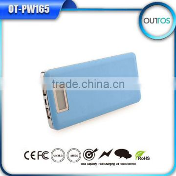 New portable power bank 12000mah phone charger with dual USB