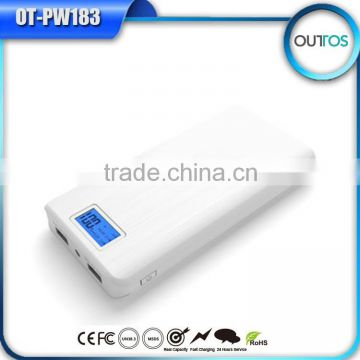 Hot Selling 16000mAh Power Bank Portable Phone Charger Battery with Dual Outputs 5V 1A 5V 2.1A