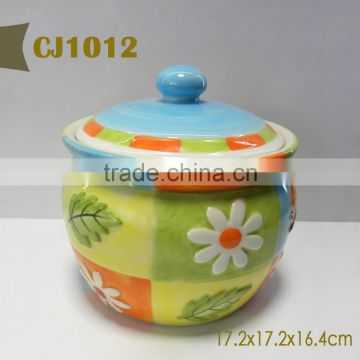 Fruit design ceramic candy jar
