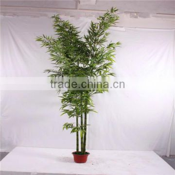 artificial green bamboo plant real trunk in factory price good quality