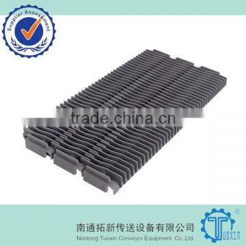 400 Raised Rib Plastic Modular Conveyor Belt with Base Flights