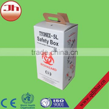 medical items paper needle box used hospital