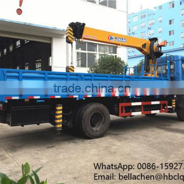 8 tons telescopic boom truck mounted crane