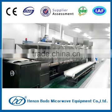 food industry snacks microwave dryer machine