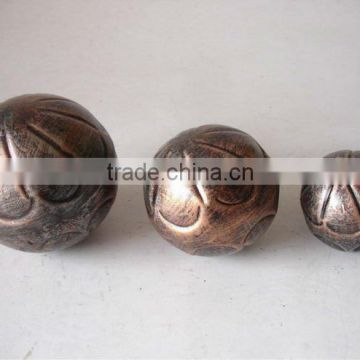 Metal Garden Spheres Copper Finish for Ornaments