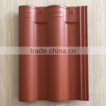 Wuxi ceramic double bent roof tiles made of superior clay in all colors