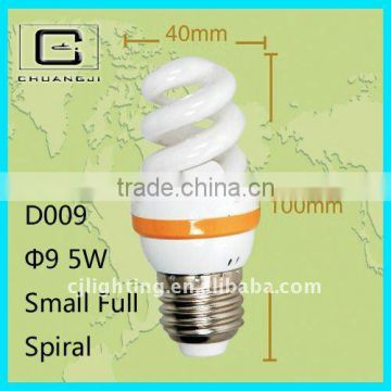 D009 100% Tri-color 9MM Small Full Spiral 110-220V home lighting