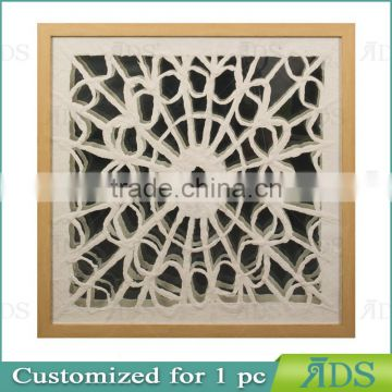Chinese 3D Paper Art in Mdf Shadow Box