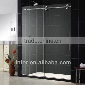 Stainless Steel Sliding Shower Door Doube Rollers