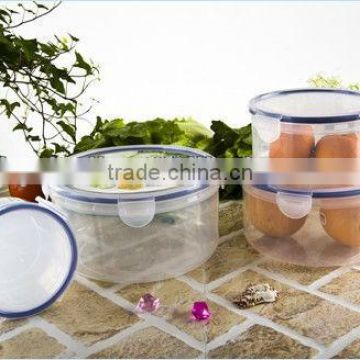 plastic kitchen plastic round food storage container set