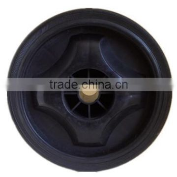 7 inch plastic wheel for garden carts, trolleys, hand truck, baby stroller